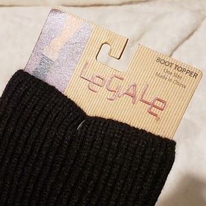 Accessories - Black Knit Boot Toppers